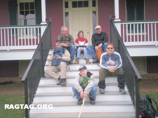 Group pic at Worthington House