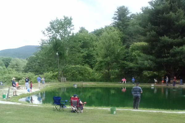 Fishing at Montebello Campground, VA 06-2014