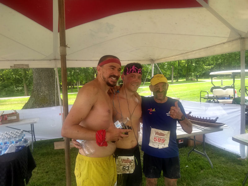 Celebrating w/ fellow runners