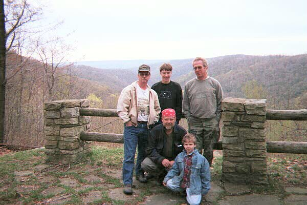 A group photo at the Monroe Run overlook