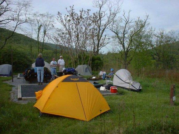 Tenting at Seneca Shadows