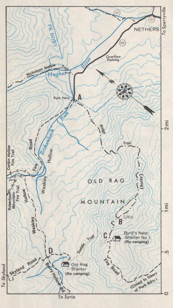 1976 map, Old Rag MTN, VA