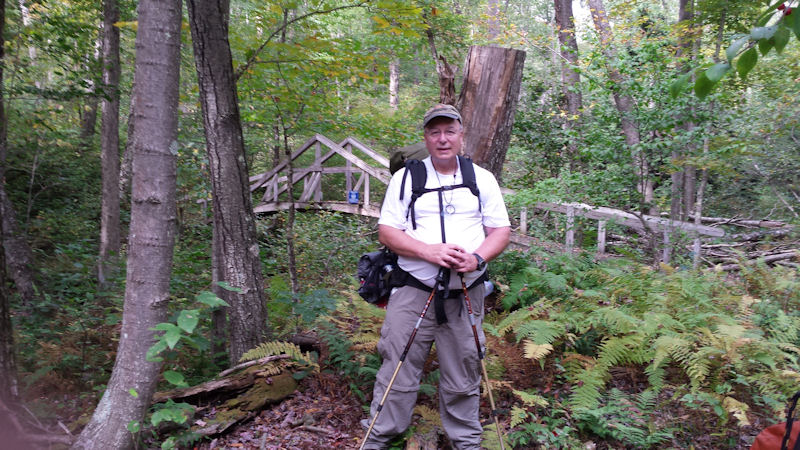 Me on Quehanna Trail, mile 33