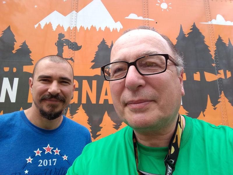 John & I after the race