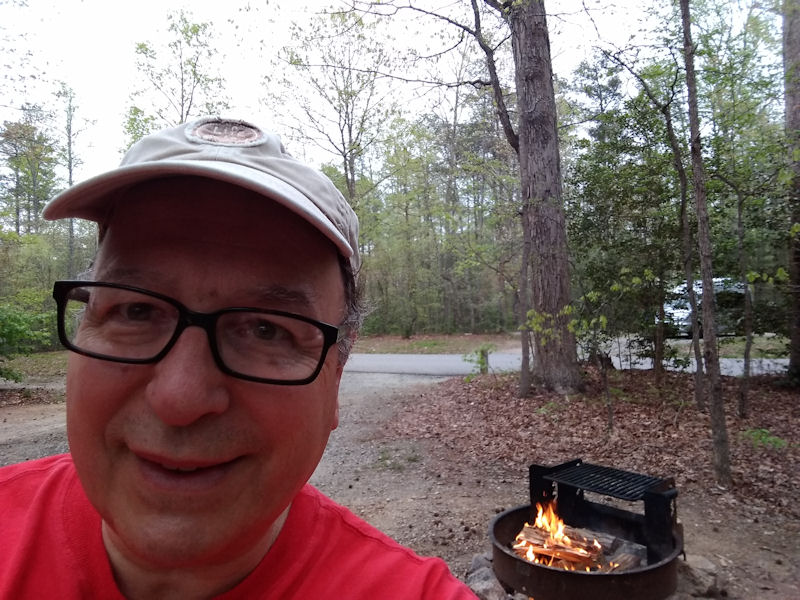 Fire pit selfie