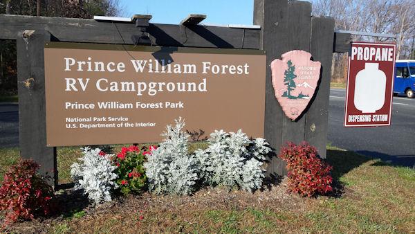Sign @ PWF RV Park, VA