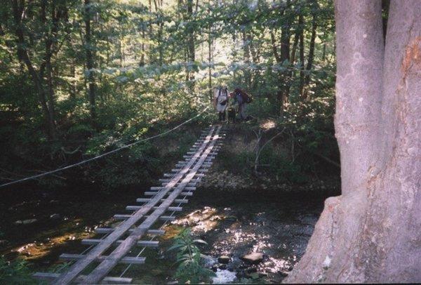 Swinging bridge at 7 mile mark