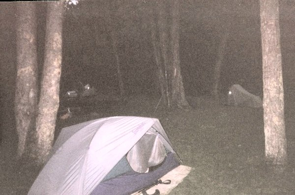 Our campsite within Ramsey's Draft