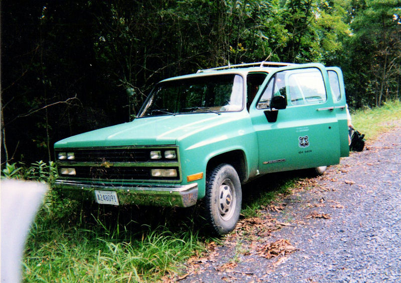 Ranger truck on Short Mtn, VA