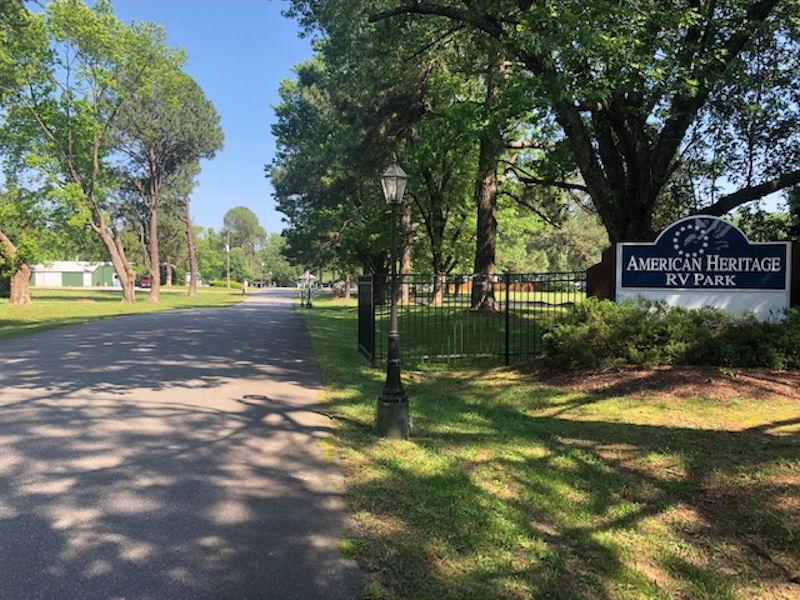 American Heritage RV Park Entrance