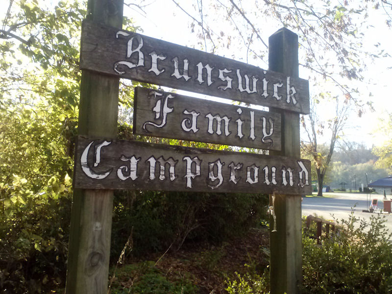 Sign @ Brunswick Family Campground, MD