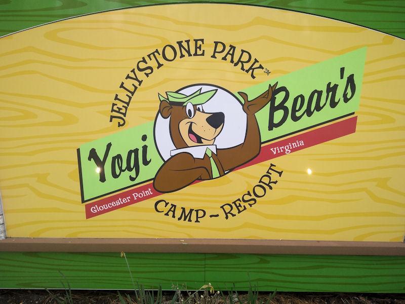 Sign @ Yogi Bear Jellystone CG