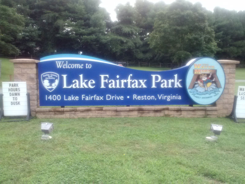 Lake Fairfax, VA sign