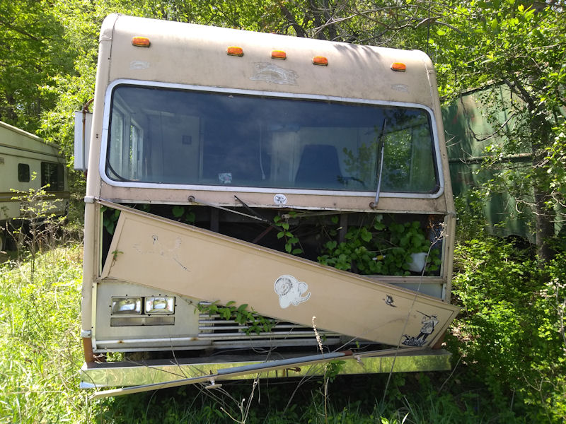 One of many abandoned RV's