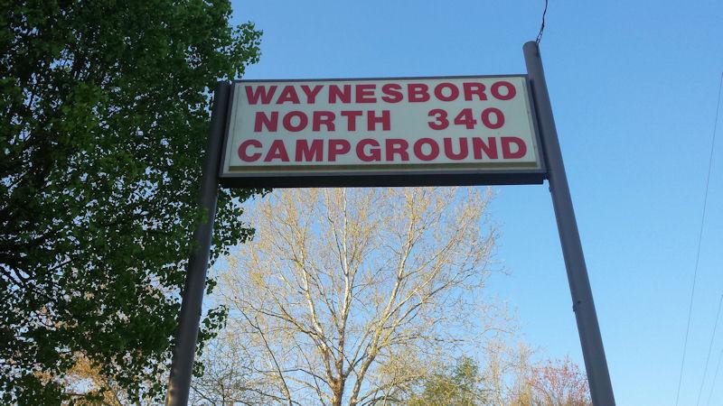 Sign @ North 340 CG, VA