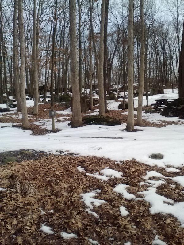 Snow remnants @ Roundtop
