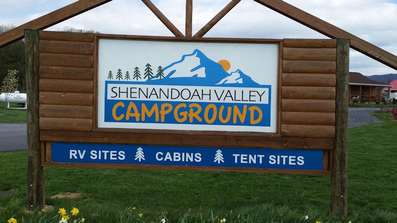 Sign @ Shen Val CG, Mt. Jackson, VA