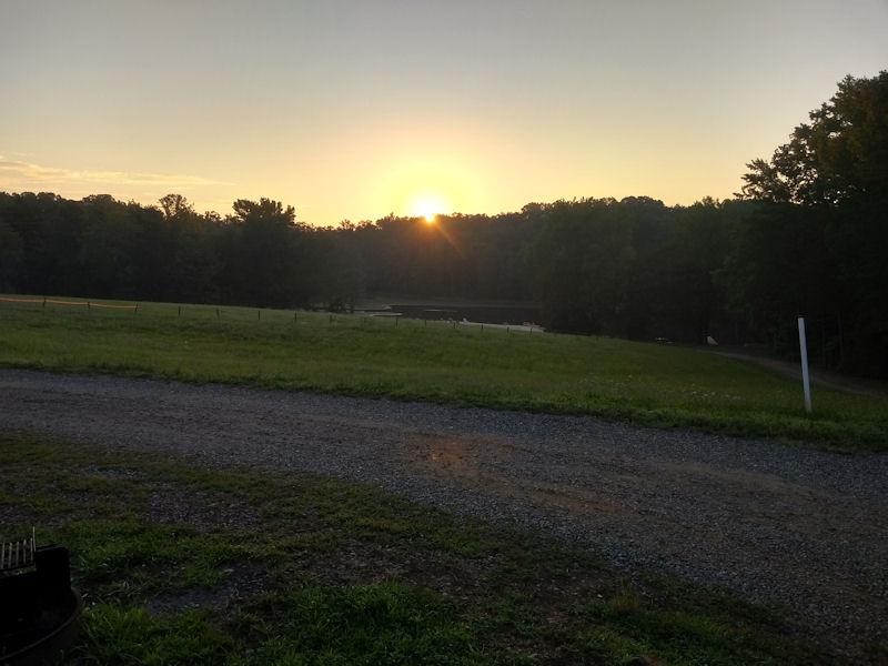 Sunrise @ Small Country CG, VA