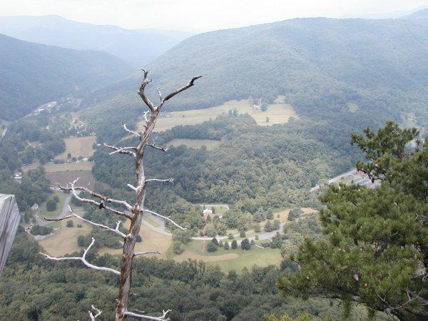 View from observation platform at Seneca Rocks
