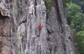 Unidentified rock climber
