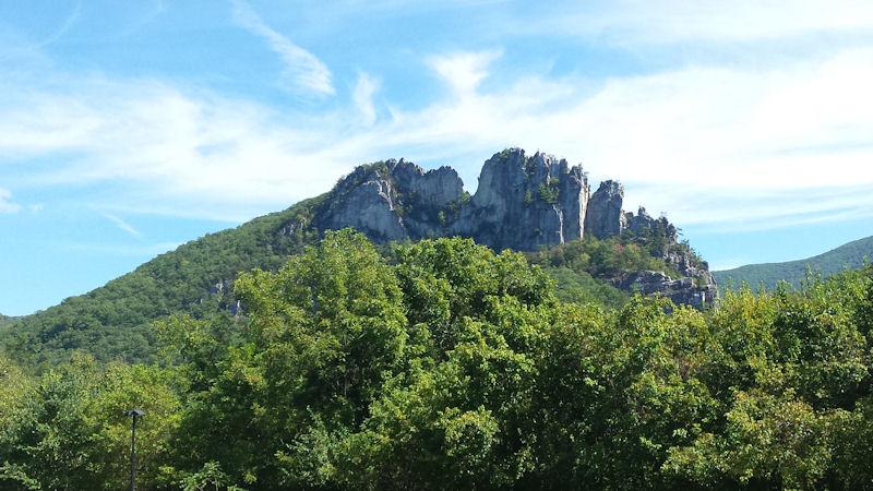 View of Seneca Rocks, WV