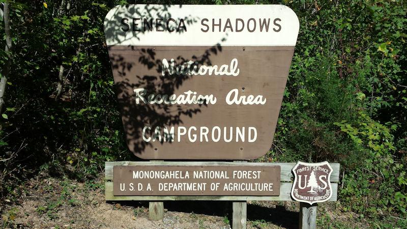 Sign @ Seneca Shadows CG, WV