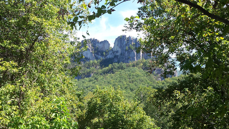 Another view of Seneca Rocks, WV