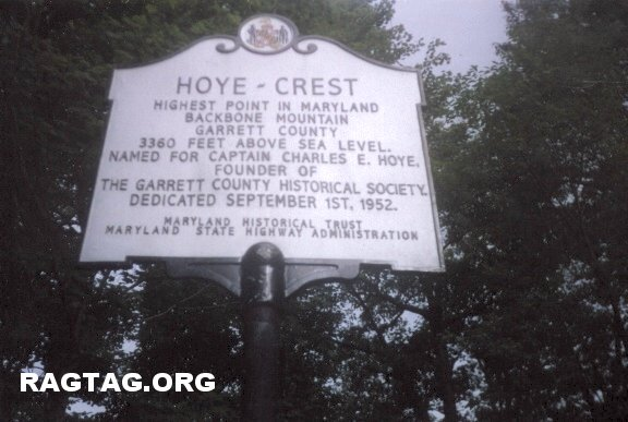 iCloseup of MD highpoint marker