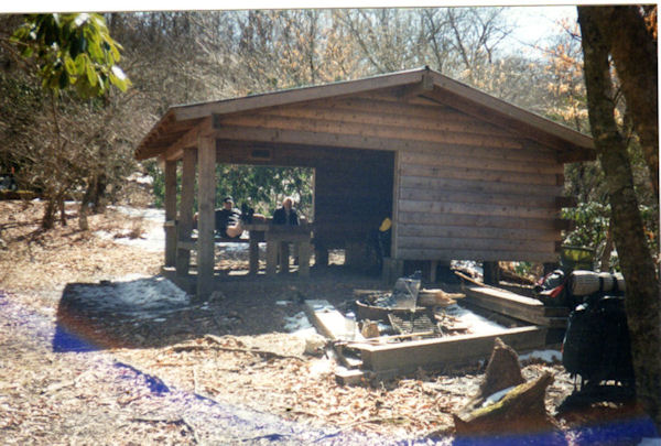 Plum Orchard Gap Shelter on the AT in GA