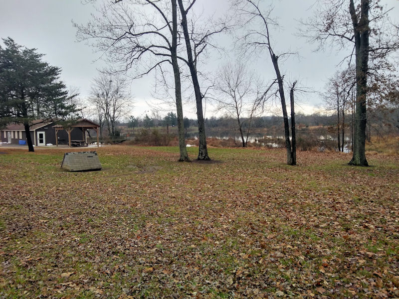 View of park office & lake