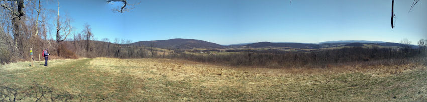 Panaramic view from the South Ridge Trail