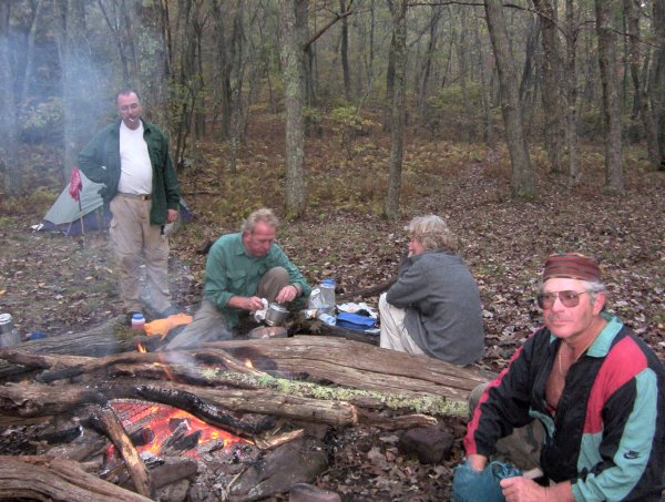 Around Frank's fantastic campfire