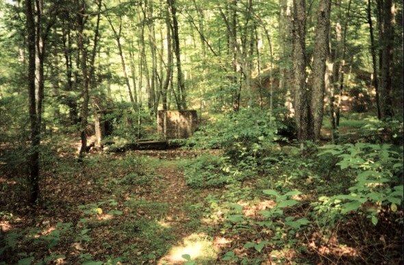 Old mine ruins at 4 mile mark