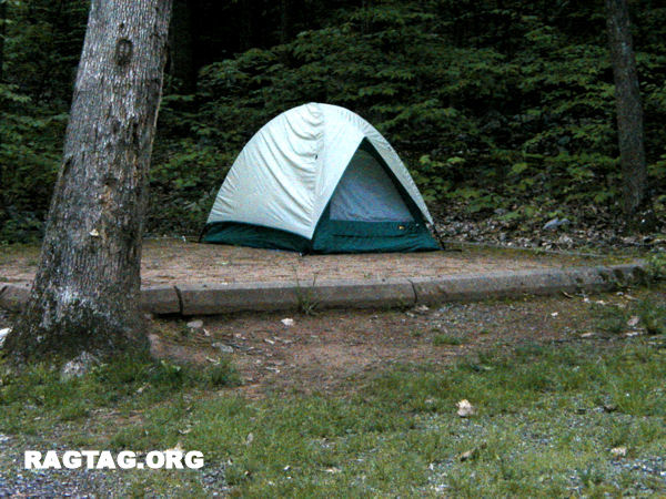 Charlie's tent-site 18