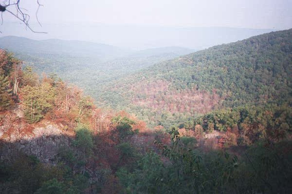 Panoramic view of Overall Run Canyon