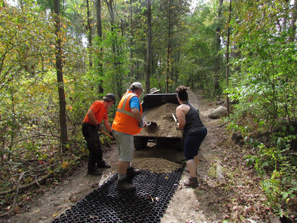 Trail work, Gifford Pinchot SP, PA
