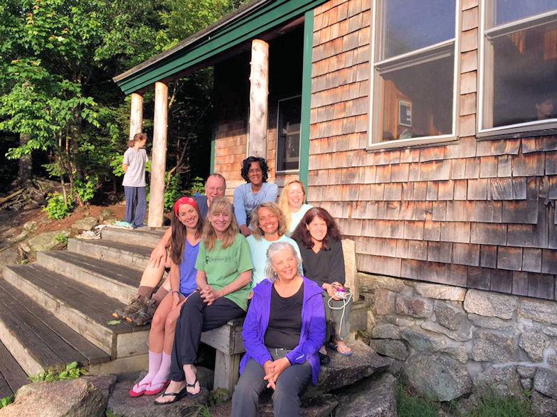 Me & Carmel Hikers @ Zealand Falls Hut