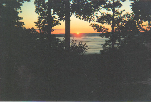 Sunrise from Riga Shelter, on the AT in CT
